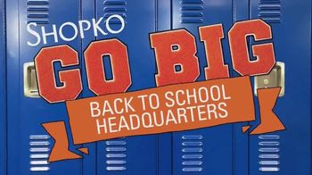 Shopko TV Spot, 'Back to School: Shoes and Backpacks'
