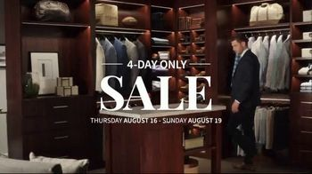 JoS. A. Bank 4-Day Only Sale TV Spot, 'Traveler Suits and Dress Shirts' - Thumbnail 1