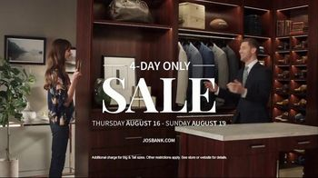 JoS. A. Bank 4-Day Only Sale TV Spot, 'Traveler Suits and Dress Shirts' - Thumbnail 9