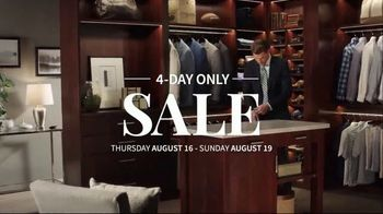 JoS. A. Bank 4-Day Only Sale TV Spot, 'Traveler Suits and Dress Shirts' - Thumbnail 2