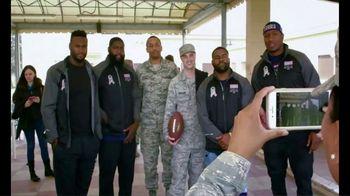 NFL TV Spot, 'Salute to Service: 2018 USO Tour' Featuring Carlos Dunlap - Thumbnail 10