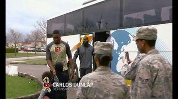 NFL TV Spot, 'Salute to Service: 2018 USO Tour' Featuring Carlos Dunlap - Thumbnail 2