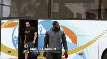 NFL TV Spot, 'Salute to Service: 2018 USO Tour' Featuring Mario Addison, Carlos Dunlap, Mark Ingram - Thumbnail 2
