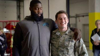 NFL TV Spot, 'Salute to Service: 2018 USO Tour' Featuring Mario Addison, Carlos Dunlap, Mark Ingram - Thumbnail 8