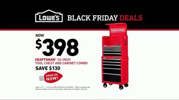 Lowe's Black Friday Deals TV Spot, 'New Project: Craftsman Tool Chest and Cabinet Combo' - Thumbnail 10