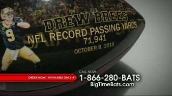 Big Time Bats Drew Brees All-Time Passing Leader Football TV Spot, 'NFL Record' - Thumbnail 3