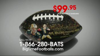 Big Time Bats Drew Brees All-Time Passing Leader Football TV Spot, 'NFL Record'
