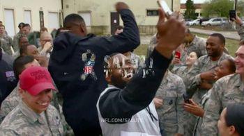 NFL TV Spot, 'Salute to Service: 2018 USO Tour' Featuring Carlos Dunlap, Mark Ingram, Ben Garland - Thumbnail 10