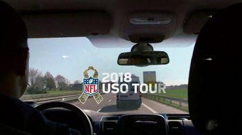 NFL TV Spot, 'Salute to Service: 2018 USO Tour' Featuring Carlos Dunlap, Mark Ingram, Ben Garland - Thumbnail 2