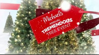 Michaels Annual Tremendous Tree Event TV Spot, 'Christmas Savings'