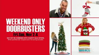 Belk Black Friday Leaks TV Spot, 'Weekend Doorbusters'