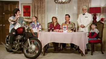 KFC 10-Piece Chicken Feast TV Spot, \'Motorcycle\' Featuring Jason Alexander