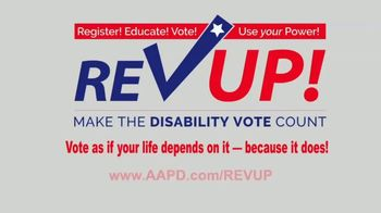 AAPD TV Spot, 'REV UP: Get Out the Disability Vote' - Thumbnail 6