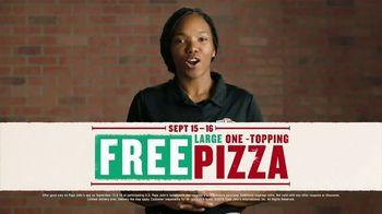 Papa John's Large 1-Topping Pizza TV Spot, 'Pizza on Us' - Thumbnail 6