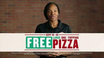 Papa John's Large 1-Topping Pizza TV Spot, 'Pizza on Us' - Thumbnail 7