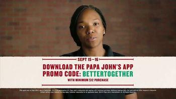 Papa John's Large 1-Topping Pizza TV Spot, 'Pizza on Us' - Thumbnail 8