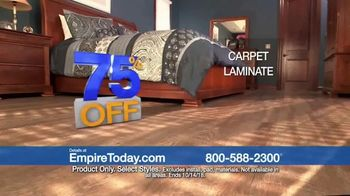Empire Today 75 Percent Off Sale TV Spot, 'Beautiful New Floors for Less'
