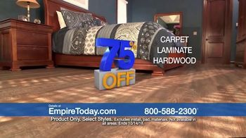 Empire Today 75 Percent Off Sale TV Spot, 'Beautiful New Floors for Less' - Thumbnail 3
