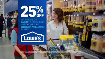 Lowe's TV Spot, 'Game-Changer: Stains and Paints Rebate' - Thumbnail 9