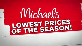 Michaels Lowest Prices of the Season Sale TV Spot, 'Throughout the Store' - Thumbnail 1