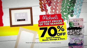Michaels Lowest Prices of the Season Sale TV Spot, 'Throughout the Store'