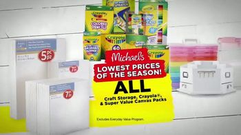 Michaels Lowest Prices of the Season Sale TV Spot, 'Throughout the Store' - Thumbnail 5