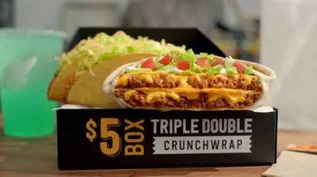 Taco Bell $5 Triple Double Crunchwrap Box TV Spot, 'Ha regresado' [Spanish] - 1366 commercial airings
