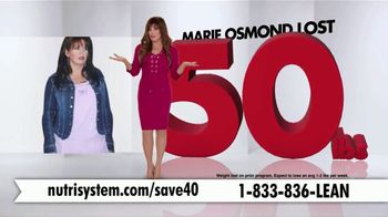 Nutrisystem Turbo 13 TV Spot, 'Weighing You Down: 40' Ft. Marie Osmond - 615 commercial airings