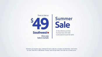 Southwest Airlines Summer Sale TV Spot, 'Make Your Summer' - Thumbnail 6
