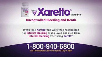 Goldwater Law Firm TV Spot, 'Xarelto Warning'