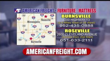 American Freight Inventory Clearance TV Spot, 'Mattresses and Sofas' - Thumbnail 10