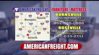American Freight Inventory Clearance TV Spot, 'Mattresses and Sofas' - Thumbnail 8