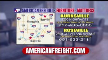 American Freight Inventory Clearance TV Spot, 'Mattresses and Sofas' - Thumbnail 9