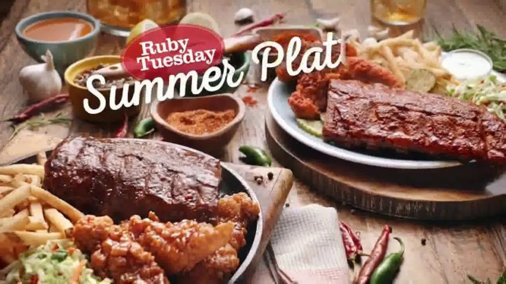 Ruby Tuesday Summer Platters Tv Commercial Heat Or Sweet