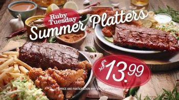 Ruby Tuesday Summer Platters TV Spot, 'Heat or Sweet?' Feat. Rachel Dratch - Thumbnail 3