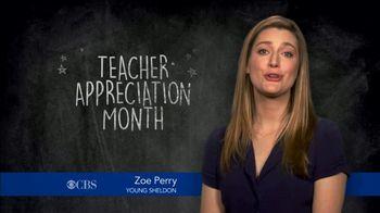 Farmers Insurance TV Spot, 'CBS: Teacher Appreciation' Featuring Zoe Perry - Thumbnail 1