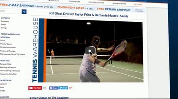 Tennis Warehouse TV Spot, 'Favorite Tennis Drills' Featuring Taylor Fritz - Thumbnail 1