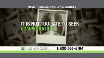Allen & Nolte, PLLC TV Spot, 'Mesothelioma and Lung Cancer' - Thumbnail 6