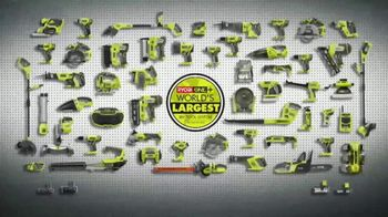 The Home Depot Ryobi Days TV Spot, 'Over 100 Tools' - Thumbnail 8