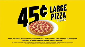 Hungry Howie's 45-Cent Large 1-Topping Pizza TV Spot, 'Howie Do It' - Thumbnail 8