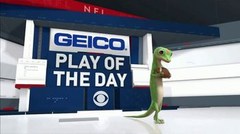 GEICO TV Spot, 'CBS Sports: Play of the Day: Luck' - 3 commercial airings