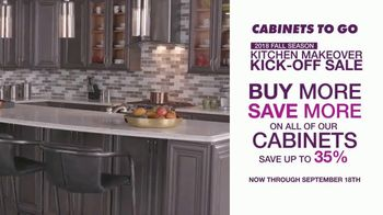 Cabinets To Go Kitchen Makeover Kick-Off Sale TV Spot, 'Summer Is Over' - Thumbnail 3