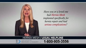 Law Offices of Michael A. DeMayo TV Spot, 'Hernia Mesh Complications'