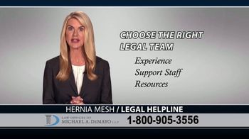 Law Offices of Michael A. DeMayo TV Spot, 'Hernia Mesh Complications' - Thumbnail 10