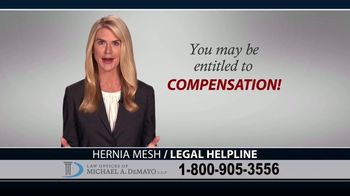 Law Offices of Michael A. DeMayo TV Spot, 'Hernia Mesh Complications' - Thumbnail 9