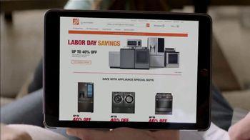 The Home Depot Labor Day Savings TV Spot, 'More: Samsung Laundry Pair' - Thumbnail 2