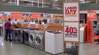 The Home Depot Labor Day Savings TV Spot, 'More: Samsung Laundry Pair' - Thumbnail 6