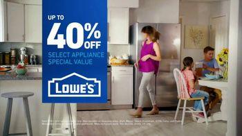 Lowe's TV Spot, 'The Fridge Moment: Appliance Special Values' - Thumbnail 9