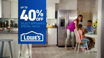 Lowe's TV Spot, 'The Fridge Moment: Appliance Special Values' - Thumbnail 8