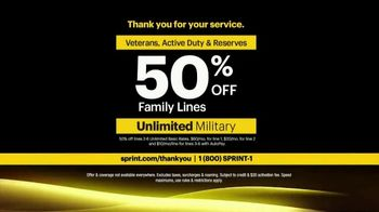 Sprint Unlimited Military Plan TV Spot, 'Saluting Our Military' - Thumbnail 10